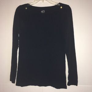 J. Crew Long Sleeve Painter Tee with Button Detail